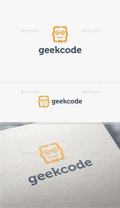 Geek Code - Logo Design Template Vector #logotype Download it here: http://graphicriver.net/item/geek-code-logo-template/10783251?s_rank=681?ref=nexion