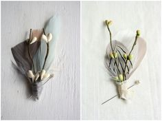 Pomp and Plumage Wedding Adornments via One Hitched Lane
