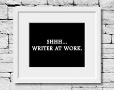 Writing Quote Writer Quote Gifts for Writers by IDefineMeProject