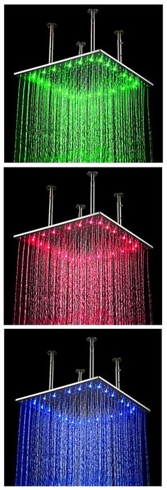 LED Shower lights | I am not afraid to Geek Out | Pinterest ...