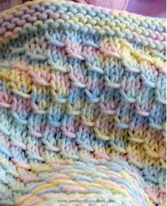 On Ravelry as Dragon Baby Blanket. * Knitting pattern for Dragon Baby Blanket - Easy quick pattern for a blanket that got its name because the stitch resembles scales. Looks great in multi-color yarn! Baby Knitting Patterns, Knitting For Kids, Loom Knitting, Knitting Stitches, Baby Patterns, Knitting Projects, Crochet Patterns, Blanket Patterns, Free Knitting