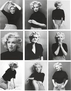 Marilyn Monroe and poses