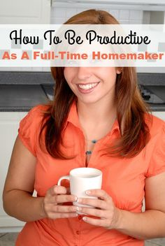 Being productive as a full-time homemaker may seem impossible some days! It can be a real struggle to not have the day slip away from you. These tips for being productive as a full-time homemaker will hopefully help you be more intentional with your homemaking. | home organization