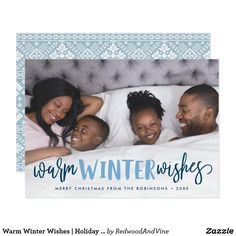 Warm Winter Wishes | Holiday Photo Card #christmas #merrychristmas  #happyholidays
