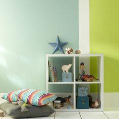 duo de peintures verte dans la chambre denfant pour une dco originale frache