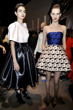 #Christian Dior 2013 - 2014 RTW Paris FW #Backstage love the dress on the right