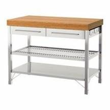 IKEA RIMFORSA Work bench Stainless steel/bamboo cm The worktop is made in bamboo which is an easy-care and hard-wearing natural material. Kitchen Island Cart Ikea, Ikea Kitchen, Ikea Rimforsa, Kitchen Work Tables, Casa Loft, Commercial Kitchen, Cuisines Design, Apartment Kitchen, Home Kitchens