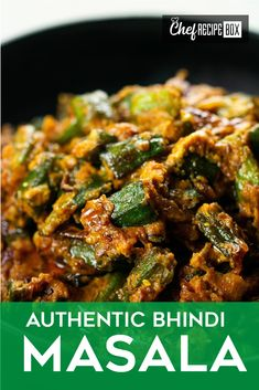 Bhindi Masala is a spicy and tasty Indian Okra curry that's super easy to make as well! With simple ingredients and even simpler steps, you can make this delicious curry in no time! Indian Okra Recipes, Healthy Indian Recipes, Easy Chinese Recipes, Asian Recipes, Spicy Vegetarian Recipes, Veg Recipes, Curry Recipes, Cooking Recipes, Indian Curry Vegetarian