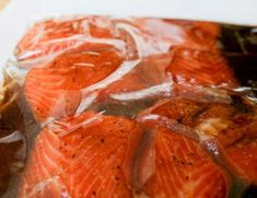 The best marinade recipe for salmon (Soy and brown sugar)! - best marinade recipe for salmon! Crockpot Steak Recipes, Grilled Steak Recipes, Meat Recipes, Chicken Recipes, Cooking Recipes, Healthy Recipes, Grilled Steaks, Easy Fish Recipes, Salmon Recipes