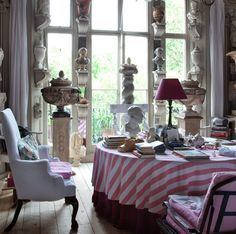 """""""Welcome to the Hone Museum. Plasterer extraordinaire Peter Hone's Notting Hill home. His beautiful plaster casts and objects are available worldwide through www.lassco.co.uk."""" - Veranda.com"""