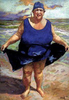 Big Lady on Beach  Beth Carver