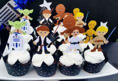 Cupcakes from a Star Wars Birthday Party via Kara's Party Ideas KarasPartyIdeas.com (21)