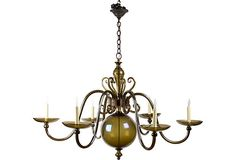 Large Smoked Glass Chandelier on One Kings Lane