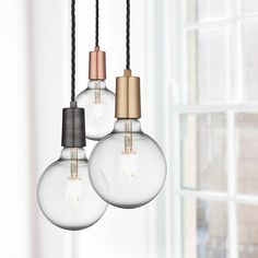 Our fantastic and versatile pure copper Vintage Sleek Edison Wire Pendant is a new addition to the Industville range. This eye-catching light works wonderfully both singularly and when clustered.
