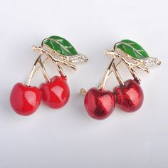 Russia Enamel Esmalte Red Double Cherry Brooches For Girl Kids Cute Fruit Broches Hijab Scarf Pins Dress Hat Clip Bijoux Jewelry-in Brooches from Jewelry & Accessories on Aliexpress.com | Alibaba Group