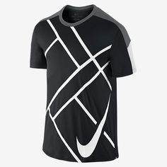 Nike Team Court Graphic Crew Men's Tennis Shirt. Nike Store