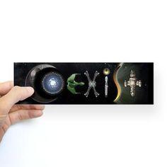 """Sci-Fi COEXIST Bumper Sticker  I've always liked the """"Coexist"""" bumper stickers, but this one is AWESOME!"""