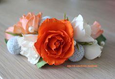 Украшение в прическу розы из фоамирана