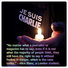 For the victims of Charlie Hebdo