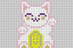 Lucky Cat Pixel Art from BrikBook.com #LuckyCat #moneycat #fortunecat #welcomingcat #happycat #pixel #pixelart #8bit    Shop more designs at http://www.brikbook.com