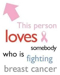 We All Love Someone Fighting Breast Cancer! For my sister.