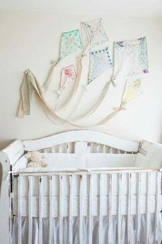 Kite wall decor made from vintage hankies. I feel like I will do this 1 day