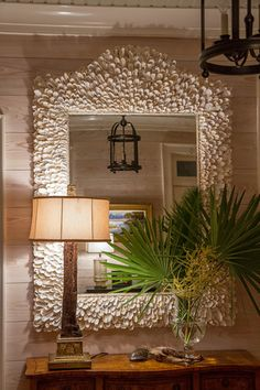 amazing oyster shell mirror