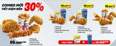KFC ra mắt combo mới giảm sốc 30% giá chỉ còn 49k & 89k