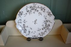 Hey, I found this really awesome Etsy listing at https://www.etsy.com/listing/267866753/antique-shabby-plate-black-and-white