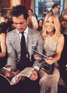 David Gandy and Mollie King tonight