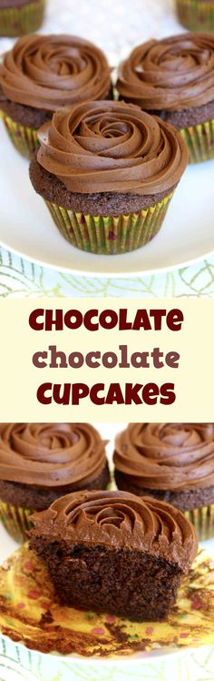 Moist and delicious chocolate cupcakes with creamy chocolate buttercream frosting. Not for the faint-hearted.