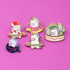 Hula unicorn squad looks great together! The new cactus pot unicorn is arriving This Friday! Get ready! Little Pet Shop, Little Pets, Rainbow Dance, Pastel Punk, Cool Pins, Pin And Patches, Cute Characters, Disney Pins, Shopping