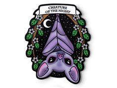 Creature of the Night Bat Sticker Kawaii Original by AtomicLace