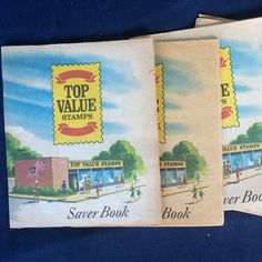 Vintage 5 Top Value Stamps Saver Books Golden by AntiqueCarla