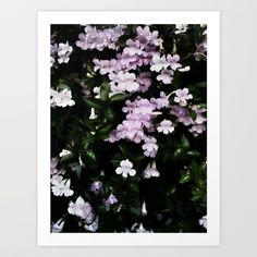Trumpet Flowers Noir by BlakCircleGirl art print #society6 #artprint #flowers #noir #Photography