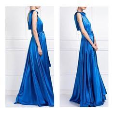 Electric blue satin gown #SS18 Satin Gown, Blue Satin, Electric Blue, Gowns, Formal Dresses, Summer, Instagram, Fashion, Vestidos
