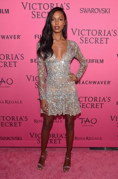 Model Jasmine Tookes attends the 2015 Victoria's Secret Fashion After Party at TAO Downtown on November 10, 2015 in New York City.