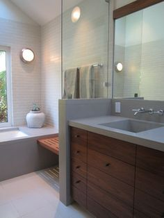 Summit Bathroom - modern - bathroom - san francisco - Gregory Dedona Architect #OmegaVanityMakeover