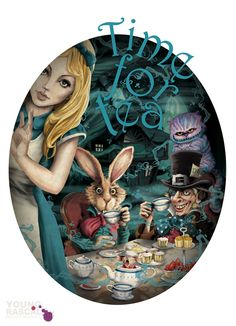 Young Rascal Alice in Wonderland Illustration