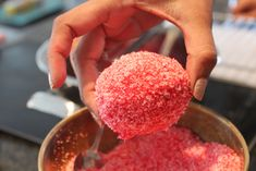 Pretty in pink.the snowball done and dusted! Pink Snowballs Recipe, Snowball Cake Recipe, Butter Biscuits Recipe, Biscuit Recipe, Eggless Vanilla Sponge Cake, Pink Velvet Cakes, Black Magic Cake, Cinnabon Cinnamon Rolls, Pink Food Coloring