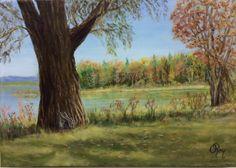 Lac des Deux Montagnes - Odette Roy - Huile - 14 x 11 x po. Oct 2017, Plants, Painting, Art, Art Background, Painting Art, Kunst, Paintings, Plant