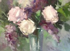 Roses, lilacs & sunshine, painting by artist Parastoo Ganjei