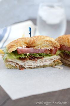 A Turkey Croissant Sandwich is the perfect light summer meal, and and even better way to use up leftover turkey   cookingwithcurls.com