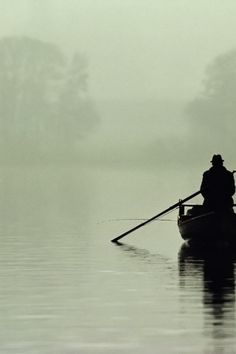 I can hear the sound that the oars make in the water