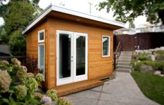 A custom built 8x12 studio, fully wired for media and office use. Features #1 clear cedar siding, fibreglass patio doors, heating and a powder room.