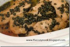 Crockpot Chicken Piccata - The Cozy Nook