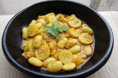 Turmeric Butter Beans, Yellow Pepper and Yellow Courgette Stew using Suma Organic Butter Beans by @shaheenA2K