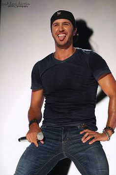 Luke Bryan...he drives me crazy just by looking at him.