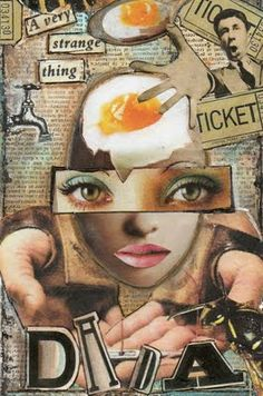 yes I'm talking about DADA . This week on SPA Marion has challenged us all to make some anti-art, surreal collage DADA-ist type of art. Photomontage, Dadaism Art, Dada Collage, Collage Artists, Anita Berber, Dada Art Movement, Dada Artists, Francis Picabia, Magazine Collage