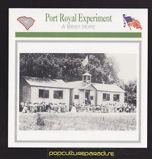 PORT ROYAL EXPERIMENT Freedman Bureau Beaufort, SC U.S. CIVIL WAR CARD